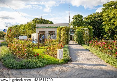Prague, Czech Republic - 23.08.2021: The Rose Garden On Petrin Hill In Prague, Czech Republic.