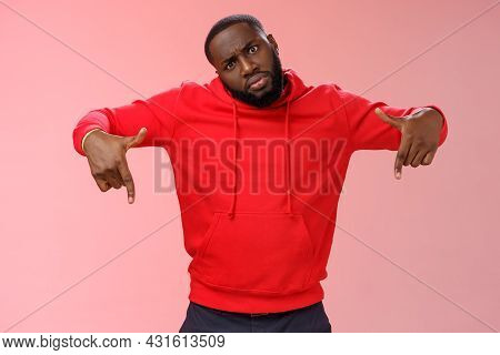 Cheeky Stylish Good-looking Black Bearded Guy Look Cool Tilting Head Bossy Confident Frowning Seriou