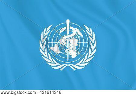 World Health Organization Flag. Who Logo Or Symbol. The World Health Organization (who) Is A Special