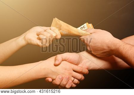Peoples Consent, The Transfer Of Money From Hand To Hand, The European Currency In The Market.
