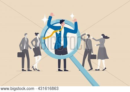 Outstanding Winner Candidate For Job Position, Stand Out From The Crowd, Notable, Different Or Disti