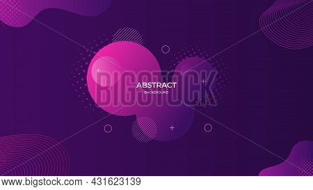 Abstract Liquid Background With Purple Gradient Color