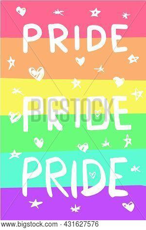 Lgbtqia Colorful Pride Flag. Perfect For Customizations.