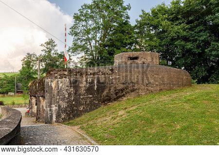 Wegierska Gorka, Poland, 08.07.2021. Wedrowiec Fort In Wegierska Gorka. World War Ii Hidden Bunker,