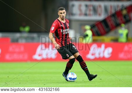 Milano, Italy.  29 August 2021. Rade Krunic Of Ac Milan  During The Serie A Match Between Ac Milan A