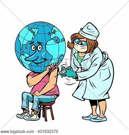 The Doctor Vaccinates The Planet Earth. Human Health