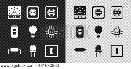 Set Ampere Meter, Multimeter, Voltmeter, Electrical Outlet, Resistor Electricity, Light Emitting Dio