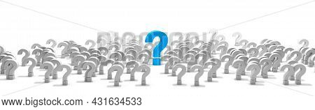 Question Mark Isolated Over White Background.concept Of Doubts And Questions.