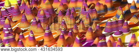 Colorful Lines And Abstracts Shapes Design.abstract Backgroud.3d Illustration.