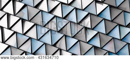White And Grey Squared And Triangle Background Geometric Design.abstract Textured Polygonal Backgrou