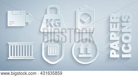 Set Delivery Security With Shield, Verification Of Delivery List Clipboard, Container, This Side Up,