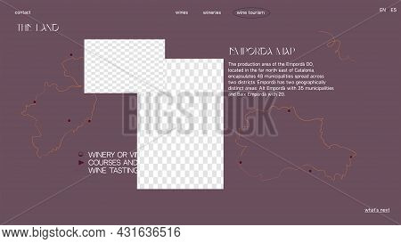 Desktop Template For Winery Website, App, Presentation Design. Ui Sale Page. Put Your Content Under