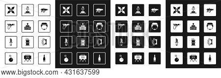 Set Cannon, Stop War, Pistol Or Gun, Japanese Ninja Shuriken, Military Helmet, Soldier Grave, Brass
