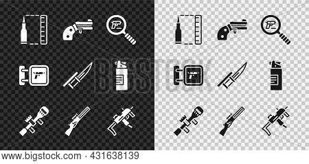 Set Bullet, Small Gun Revolver, Pistol Or Search, Sniper Optical Sight, Hunting, Mp9i Submachine, Sh