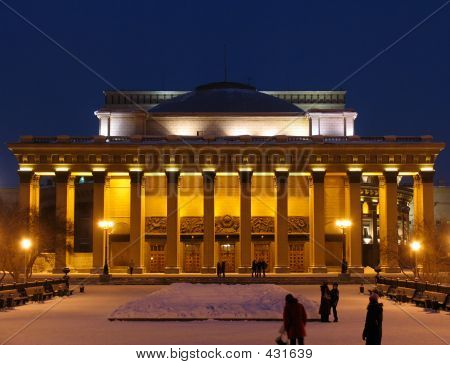 Night View On Theater Building