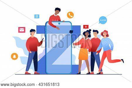 Technology Influence On Teenagers, Progressive Youth Gen Z Use Progressive Digital Technology In Com