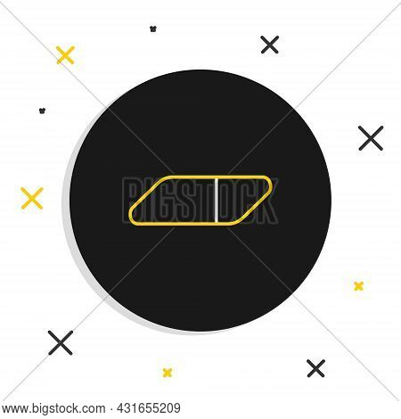 Line Eraser Or Rubber Icon Isolated On White Background. Colorful Outline Concept. Vector