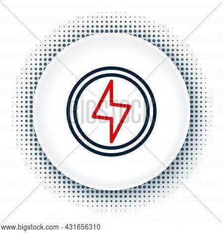 Line Lightning Bolt Icon Isolated On White Background. Flash Sign. Charge Flash Icon. Thunder Bolt.
