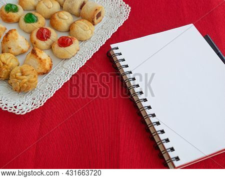 Homemade Sweet Panellets Dessert, A Typical Pastry From Catalonia, Spain, On The All Saints Festival