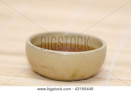 ceramic bowl with indian black tea