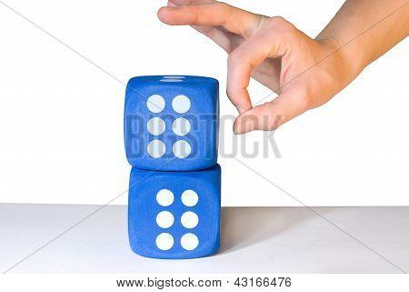 Hand Overbalancing Dice