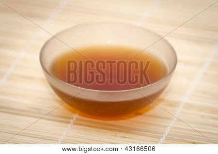 glass bowl with indian black tea