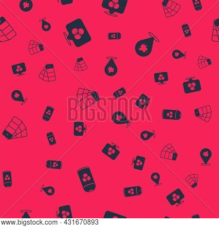Set Paint Spray Can, Rgb And Cmyk Color Mixing, Color Palette Guide And On Seamless Pattern. Vector