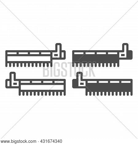 Pci Simple Communications Controller Line And Solid Icon, Electronics Concept, Pci Controller Vector
