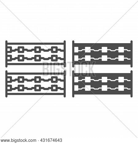 Simple Printed Circuit Boards Layout Line And Solid Icon, Electronics Concept, Simple Pcb Vector Sig