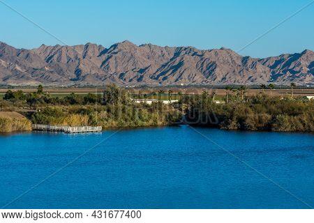 An Overlooking Landscape View Of Yuma, Arizona