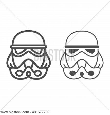 Clone Commander Bacara Line And Solid Icon, Star Wars Concept, Clone Trooper Officer Marshal Vector