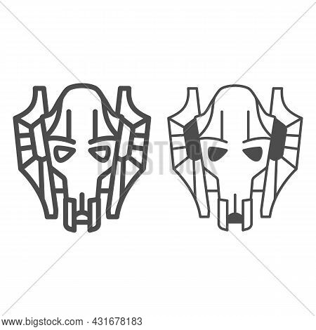 General Grievous Line And Solid Icon, Star Wars Concept, Kaleesh Warlord Supreme Commander Vector Si