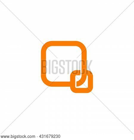 Letter Q Two Square Overlapping Line Logo Vector