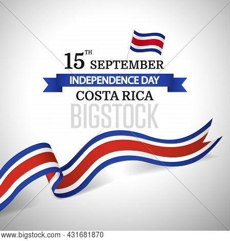 Vector Illustration Of Independence Day In Costa Rica