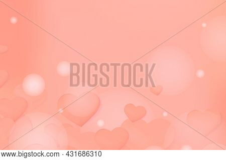 Abstract orange hearts background copy space