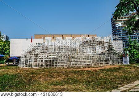 Tirana, Albania - June 21, 2021: Installation Reja