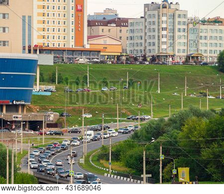 Cheboksary, Russia - Jule, 21 2021: View Of The Shopping Center