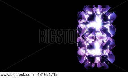 Abstract 4k Uhd 3d Illustration Of Bright Purple Lights