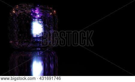 4k Uhd 3d Illustration Of Shiny Cube