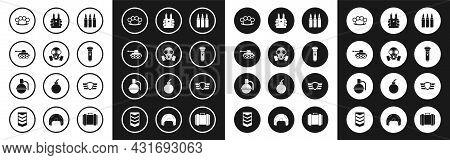 Set Bullet, Gas Mask, Military Tank, Brass Knuckles, Flashlight, Bulletproof Vest For Protection Fro