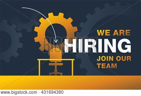 We Are Re Hiring Flyer For Amployee Recruitment - New Employee Search Advertisement Element - Empty