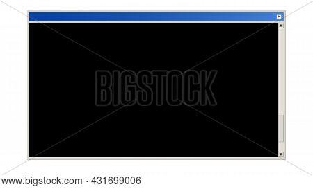 Retro Style Blank Dialod Box Window Interface