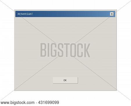 Retro Style Dialod Box Pop Up Frame Interface