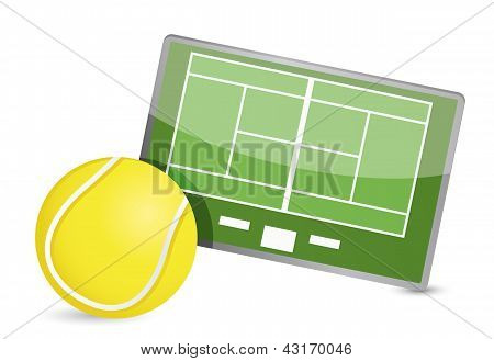 Tennis Field Tactic Table, Tennis Balls