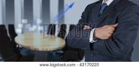 Businessman Success With His Board Room