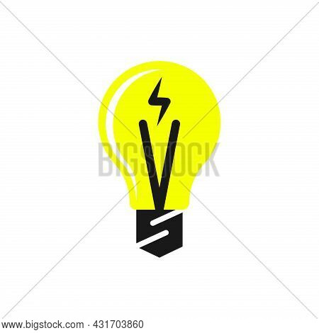 Light Bulb Icon. Light Bulb Vector Isolated On White Background. Light Bulb Logo. Idea Symbol. Think