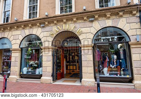 Cork, Ireland- July 14, 2021: The Front Of Saville Store In Cork City