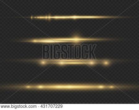Horizontal Light Ray, Flash Yellow Horizontal Line