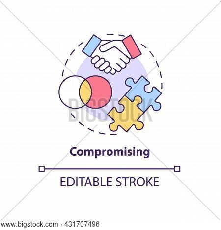 Compromising Concept Icon. Strategy To Resolving Problems. Mutual Agreement. Conflict Management Sty