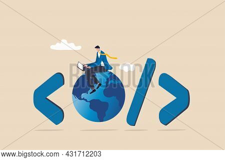 Website Development, Www Application Coding, Technology Create Online Cyberspace Software Connect Th